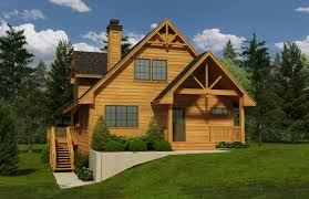 Southland Floor Plan by Cabin Home Designs 2 Bedroom Cabin Home Plan Homepw76649cabin