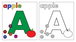 letter a coloring page free stock photo public domain pictures