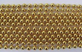 mardi gras beaded necklaces 33 inch 07mm metallic gold mardi gras 6