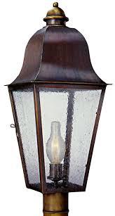 Outdoor Post Light Keene Electric Copper Lantern Garden Post Light
