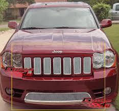 2007 jeep grand grille for 09 10 jeep grand srt8 mesh grille combo insert ebay