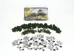 medium green realistic tree kits woodland scenics model