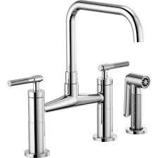 brizo 62553lf pc litze chrome two handle widespread kitchen