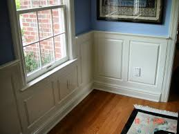 wainscoting unique but still a traditional look for dining room