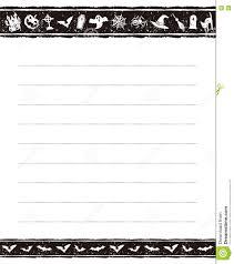 halloween border black and white halloween memo pad design stock vector image 76721278