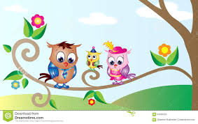 cute owls cartoon wallpaper stock vector image 59935025