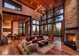 livingroom fireplace rustic living room with high ceiling fireplace in truckee