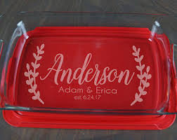engraved dishes engraved pyrex etsy