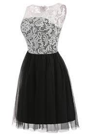 ruthshen cheap prom dresses 2017 new black and white knee length