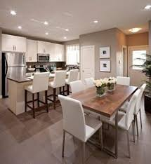 Combined Living And Dining Room Kitchen Open Plan Living Combined Small Apartment Kitchen And