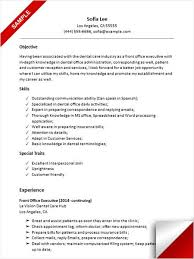 Sample Resume For Front Desk Receptionist by Receptionist Resume Objective Objective Of System Administrator