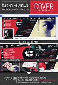 dj and musician timeline facebook cover template facebook cover