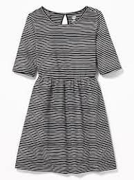 fit u0026 flare jersey dress for girls old navy