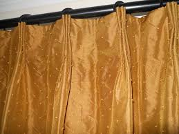 silk drapes woven silk with hand knotted gold dots custom curtains