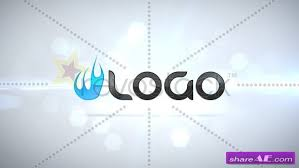 clean particle logo intro after effects project revostock