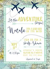 Travel Theme Having A Travel Theme Baby Shower This Invite Includes It All
