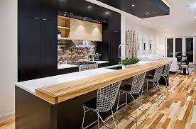 cuisine noir mat et bois cuisine et bois moderne et élégante kitchens interiors