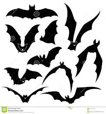 halloween silhouette vector black bats vector silhouettes set stock vector image 61114163