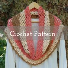 crochet pattern cheesecake pop cowl self striping yarn sweet