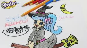 shopkins jessicake halloween holiday edition shoppies how to draw