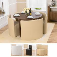 small round table with 4 chairs marbella round walnut dining table and 4 cream bentley chairs
