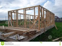 the construction of a frame house stock photo image 74426077