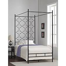 amazon com metal canopy bed frame twin sized kids princess