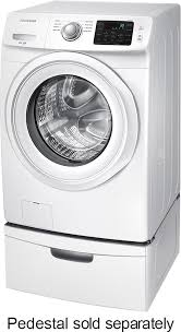 Samsung Pedestals For Washer And Dryer White Samsung 4 2 Cu Ft 8 Cycle High Efficiency Front Loading Washer