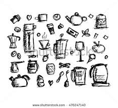 Kitchen Utensils Design by Kitchen Utensils Sketch Drawing Your Design Stock Vector 611016629