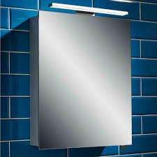 alliance aros 500mm led aluminium mirror cabinet