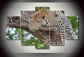 chambre de d馗ompression hd imprimé arbre léopard africain peinture sur toile chambre