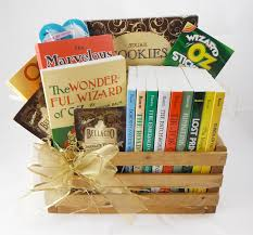 book gift baskets book gift basket gifts by age ages 12 and up the oz