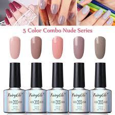 fairyglo 5 colour gel nail polish uv led varnish soak off nail art