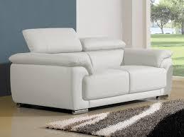 canapé cuir blanc conforama canapé cuir 2 places marjorie cuir reconstitué blanc vente de