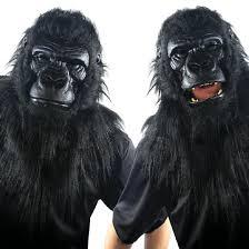 halloween costume with mask gorilla monkey chimp halloween costumes nightmare factory 1 of
