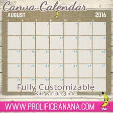 create a pdf calendar template with working links in canva we