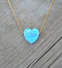 blue heart necklace jewelry images Heart necklace gold 14k gold filled chain blue heart jpg