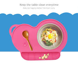 silicone cuisine epasun silicone baby dinner plate non slip dining dish placement