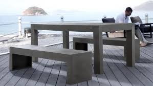 Concrete Patio Tables And Benches Concrete Patio Table And Benches Home Design Ideas