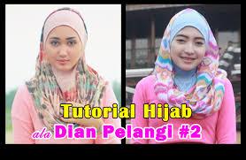 tutorial pashmina dian pelangi tutorial hijab pashmina ala dian pelangi 2