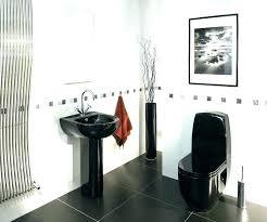 black and white bathroom decor ideas black and gray bathroom accessories gray suite decorating fantastic