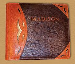 leather photo albums engraved personalized family photo albums