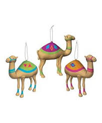 chuck would definitely these camel ornaments