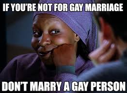 Gay Marriage Meme - whoopi goldberg on gay marriage rebrn com