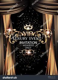 Event Invitation Card Vip Elegant Luxury Event Invitation Card Stock Vector 569511835