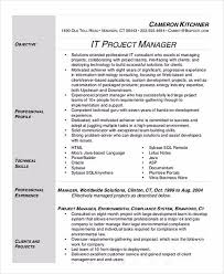 Project Manager Resume Samples And by It Manager Resume Sample And Tips
