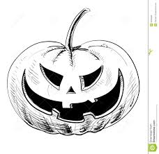 halloween pumpkin with evil scary smile royalty free stock photos