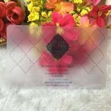 customtransparent plastic business cards frost transparent pvc
