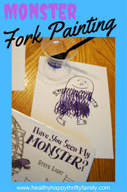 fork painting monster craft monsters crafts and kid activities