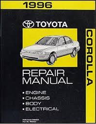 original toyota corolla 1996 toyota corolla repair shop manual original
